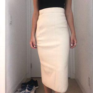 Babaton Skirts - BABATON BEIGE WOOL SKIRT